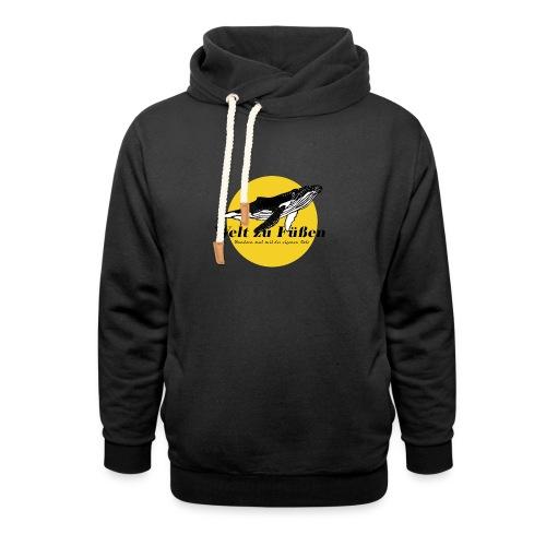 Welt zu Füßen Logo - Schalkragen Hoodie