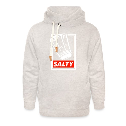 Salty white - Unisex Shawl Collar Hoodie