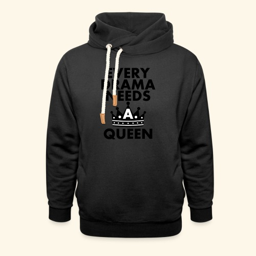 EVERY DRAMA black png - Unisex Shawl Collar Hoodie
