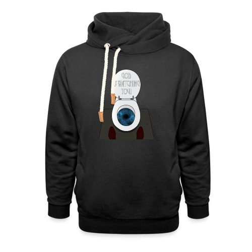 God is watching you! - Felpa con colletto alto unisex