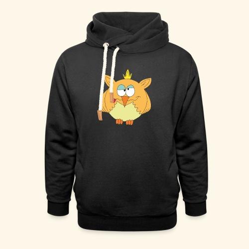 Fuzzy T-Shirt orange - Schalkragen Hoodie