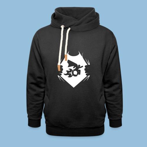 Wheelchair shirt 001 - Sjaalkraag hoodie