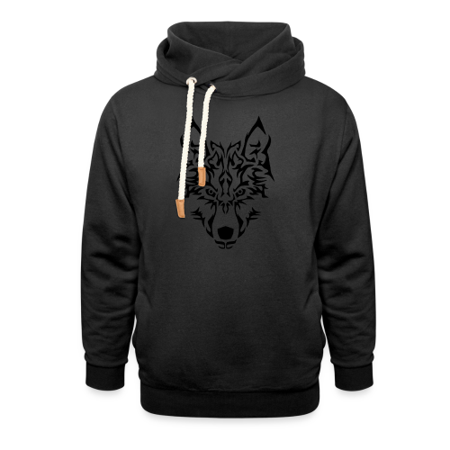 Tribal Wolf - Sweat à capuche cache-cou