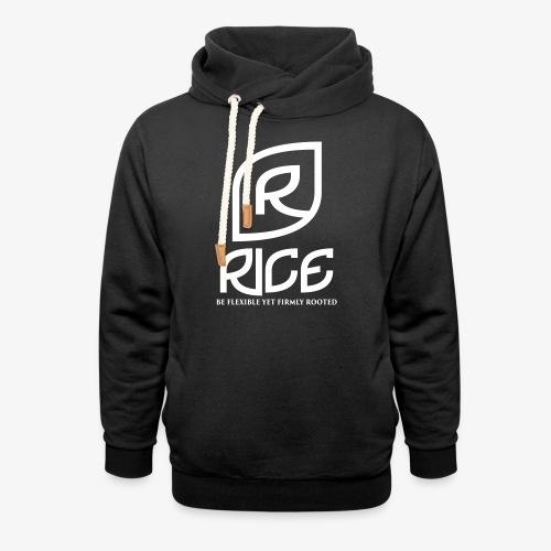 rice vector - Unisex sjaalkraag hoodie