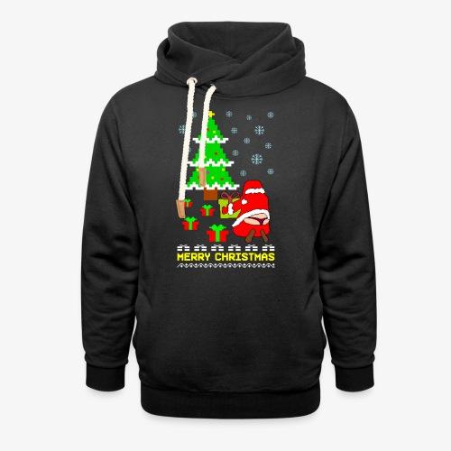 Merry Christmas Santa Tanga Ugly Xmas - Schalkragen Hoodie