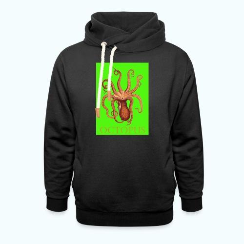 Kraken Pop Art Drawing - Shawl Collar Hoodie