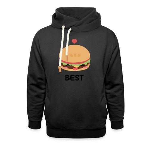 hamburger - Felpa con colletto alto unisex