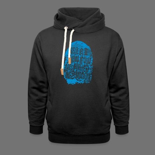 Fingerprint DNA (blue) - Shawl Collar Hoodie