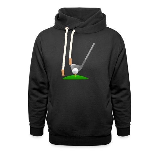 Golf Ball PNG - Sudadera con capucha y cuello alto unisex