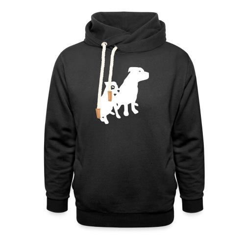 Doggy / zwei brave Hunde zum verschenken - Schalkragen Hoodie