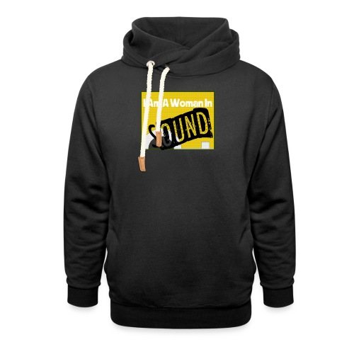 I am a woman in sound - yellow - Unisex Shawl Collar Hoodie