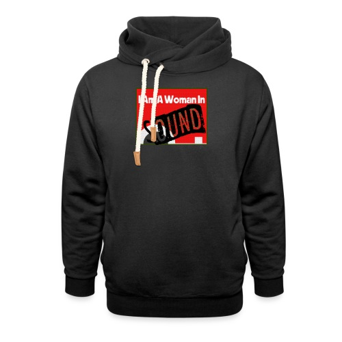 I am a woman in sound - red - Unisex Shawl Collar Hoodie