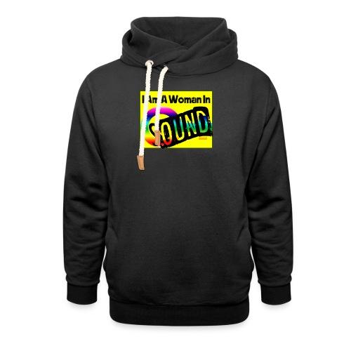 I am a woman in sound - rainbow - Unisex Shawl Collar Hoodie