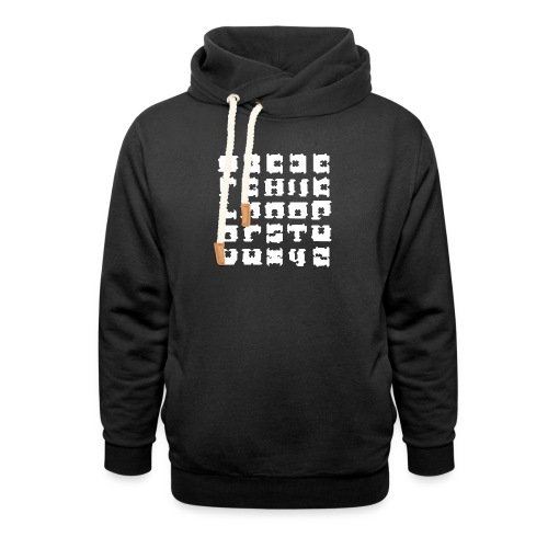 broodclip alfabet - Sjaalkraag hoodie