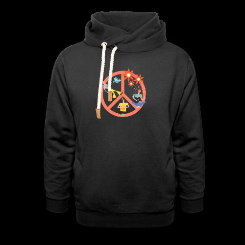 Hippie Peace - Shawl Collar Hoodie