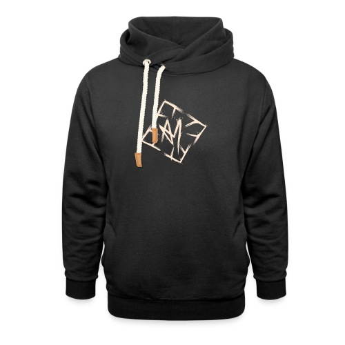 Across Yourself - Logo white transparent - Unisex Shawl Collar Hoodie