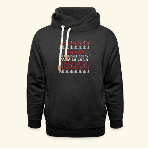 Gay Christmas sweater - Bluza z szalowym kołnierzem unisex