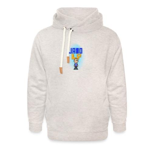 Pixel Jamo - Unisex hoodie med sjalskrave