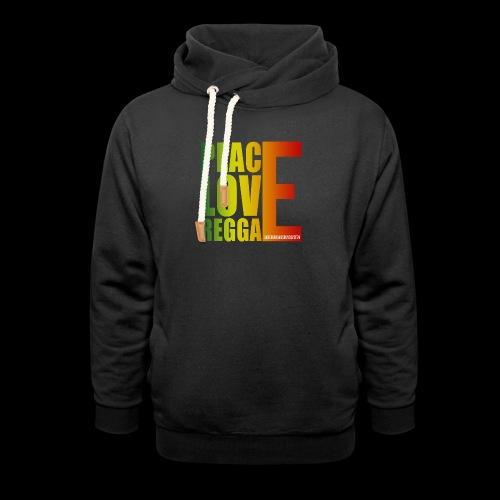 PEACE LOVE REGGAE - Schalkragen Hoodie