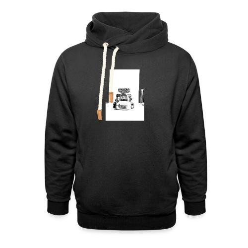 Retro Science Fiction Roboter T-Shirt Geschenkidee - Schalkragen Hoodie