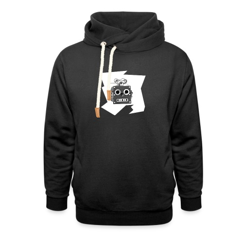 Cooles lustiges Sci-Fi T-Shirt mit vintage Robobot - Schalkragen Hoodie