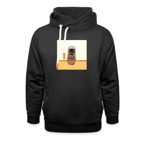 Lustiges Scifi Robot T-Shirt retro Geschenkidee - Schalkragen Hoodie