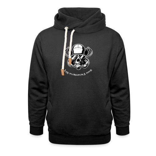 Skull diver white double face - Sweat à capuche cache-cou