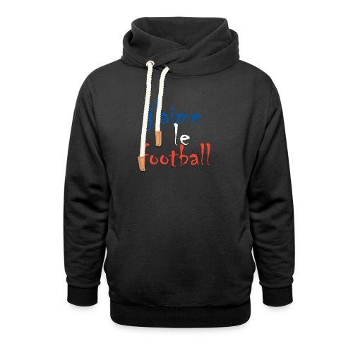 j' aime le football - Unisex Schalkragen Hoodie