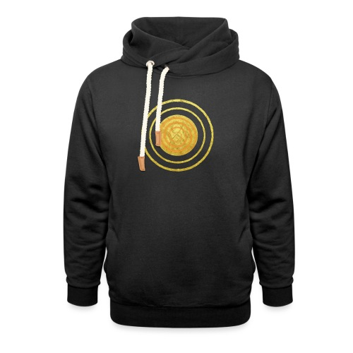 Glückssymbol Sonne - positive Schwingung - Spirale - Unisex Schalkragen Hoodie