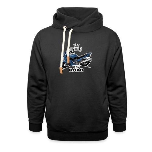 0885 FJR KING of the ROAD (blauw) - Unisex sjaalkraag hoodie