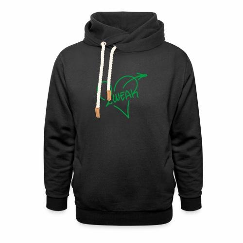 Love for a green life - Hoodie med sjalskrave