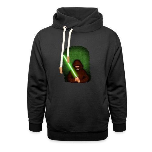 Jedi warrior with green lightsaber - Felpa con colletto alto unisex
