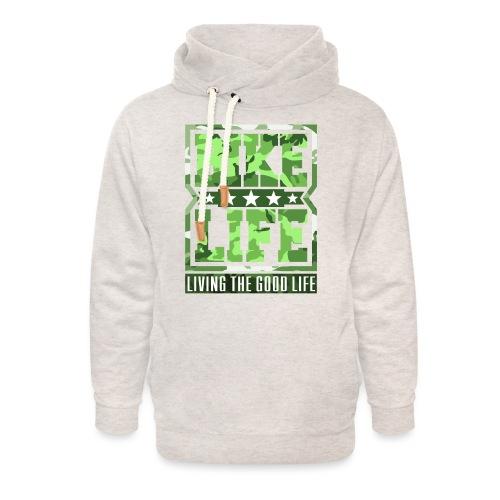 Bikelife Green Camo - Unisex Shawl Collar Hoodie