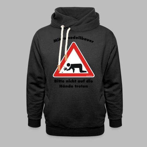 Mikromodell Warnschild Hände - Schalkragen Hoodie