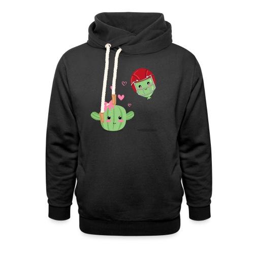 Cactus y Globo, amor - Sudadera con capucha y cuello alto