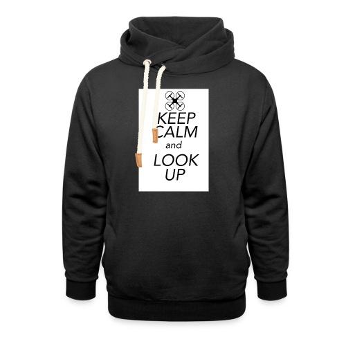 Keep Calm and Look Up - Sjaalkraag hoodie