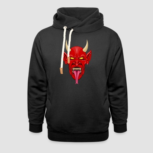 Devils Face Satans Army - Shawl Collar Hoodie