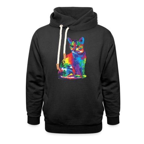 Katze - Unisex Schalkragen Hoodie