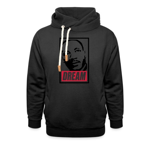 Obey x Dream MLK 2c_blanc - Sweat à capuche cache-cou