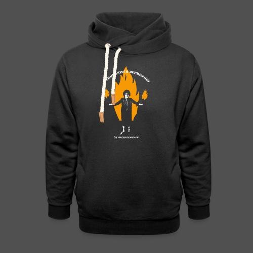 Pyromanisch Depressief (v) - Unisex sjaalkraag hoodie