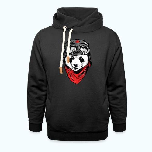 Panda pilot - Shawl Collar Hoodie