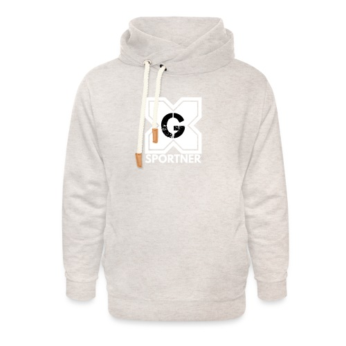 Logo GX SPORTNER blanc - Sweat à capuche cache-cou unisexe