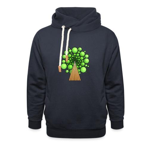 Kugel-Baum, 3d, hellgrün - Schalkragen Hoodie
