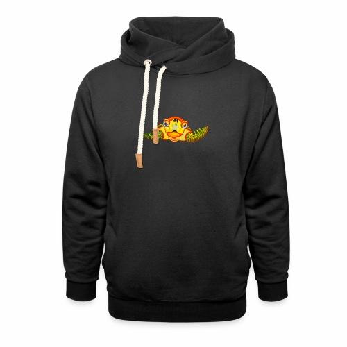Boze Turtle Fluo - Unisex sjaalkraag hoodie