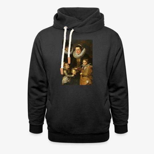 familie-engels2-canvas - Unisex sjaalkraag hoodie