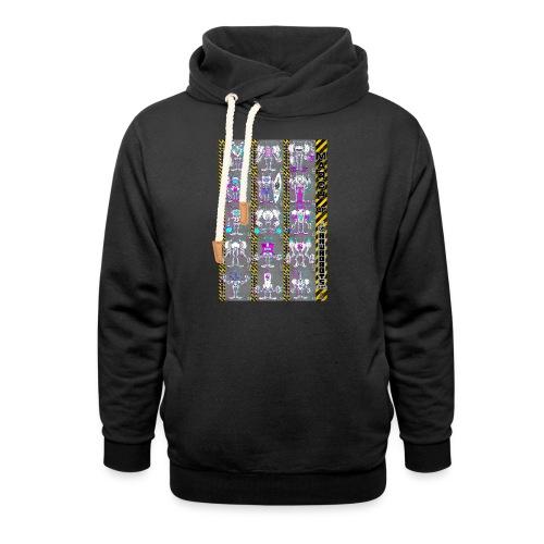 #MarchOfRobots ! NR 16-30 - Unisex hoodie med sjalskrave