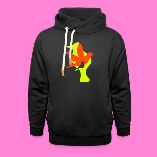 birds - Unisex sjaalkraag hoodie
