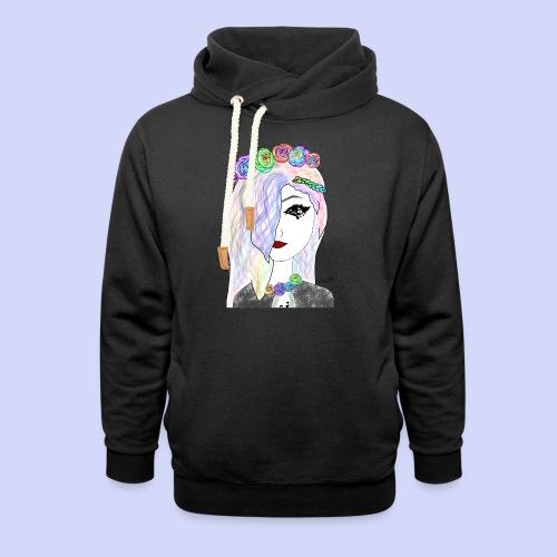 Rainbow flower girl - Female shirt - Unisex hoodie med sjalskrave