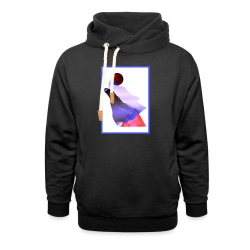 Måne Ulv - Laurids B Design - Unisex hoodie med sjalskrave