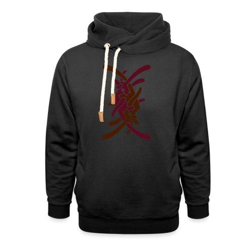 Stort logo på bryst - Unisex hoodie med sjalskrave